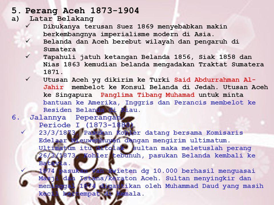 Perang Aceh 1873-1904 Latar Belakang Jalannya Peperangan.