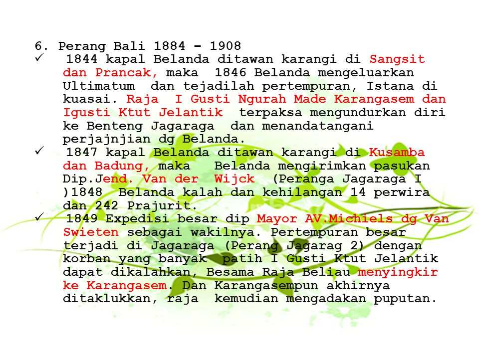 Perang Bali 1884 – 1908