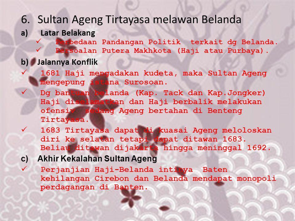 Sultan Ageng Tirtayasa melawan Belanda