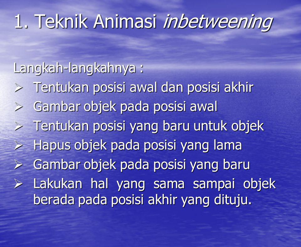 1. Teknik Animasi inbetweening