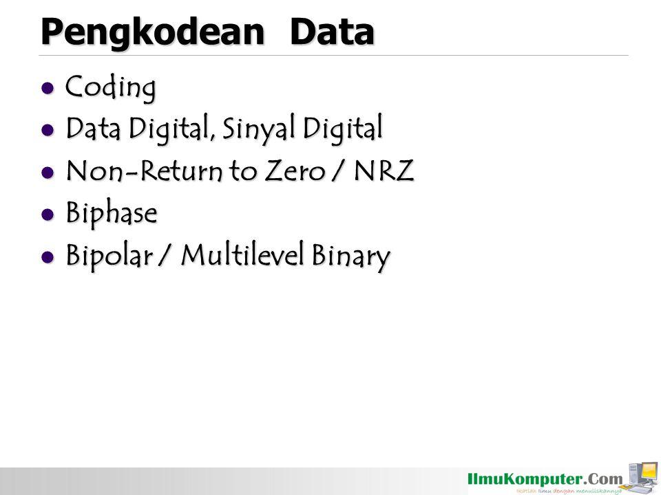 Pengkodean Data Coding Data Digital, Sinyal Digital