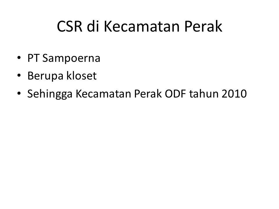 CSR di Kecamatan Perak PT Sampoerna Berupa kloset