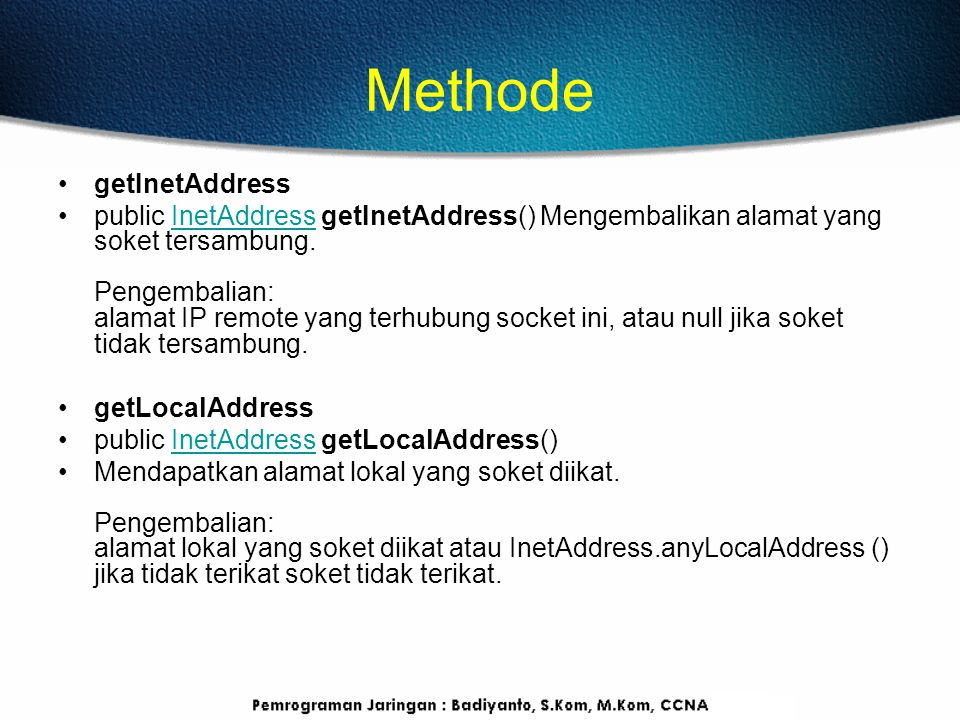 Methode getInetAddress