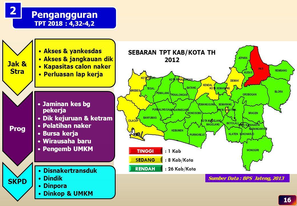 SEBARAN TPT KAB/KOTA TH 2012