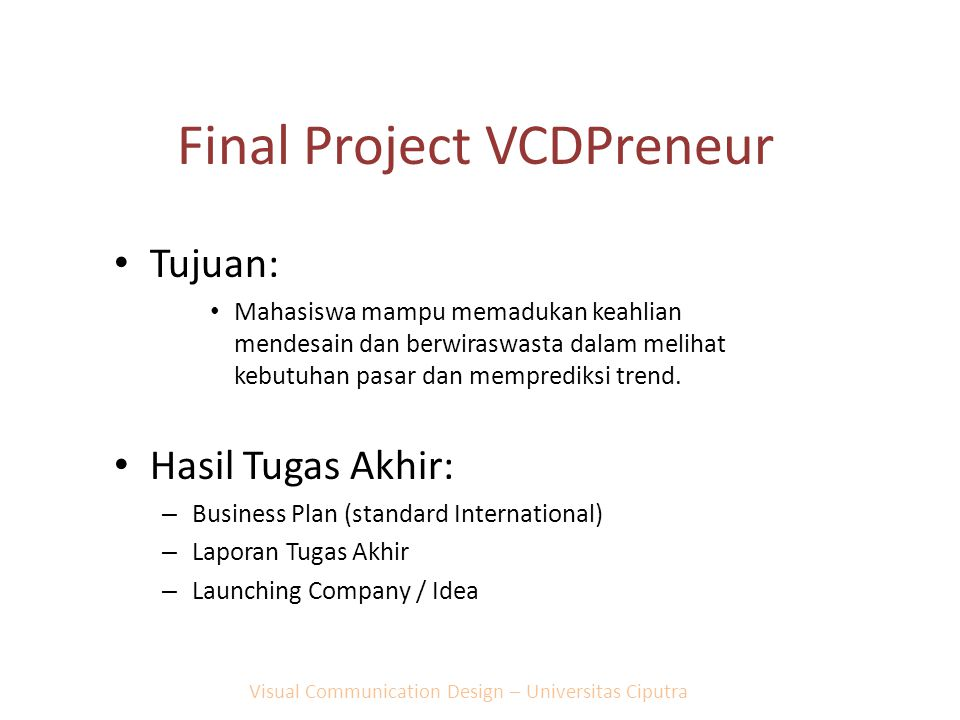Final Project VCDPreneur