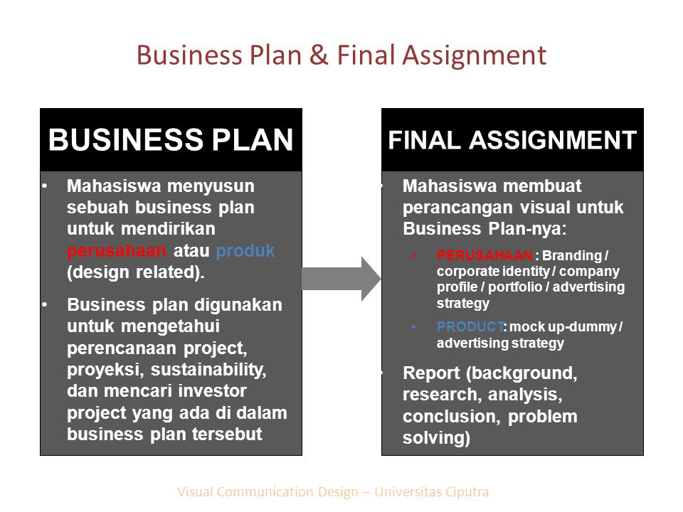 Business Plan & Final Assignment