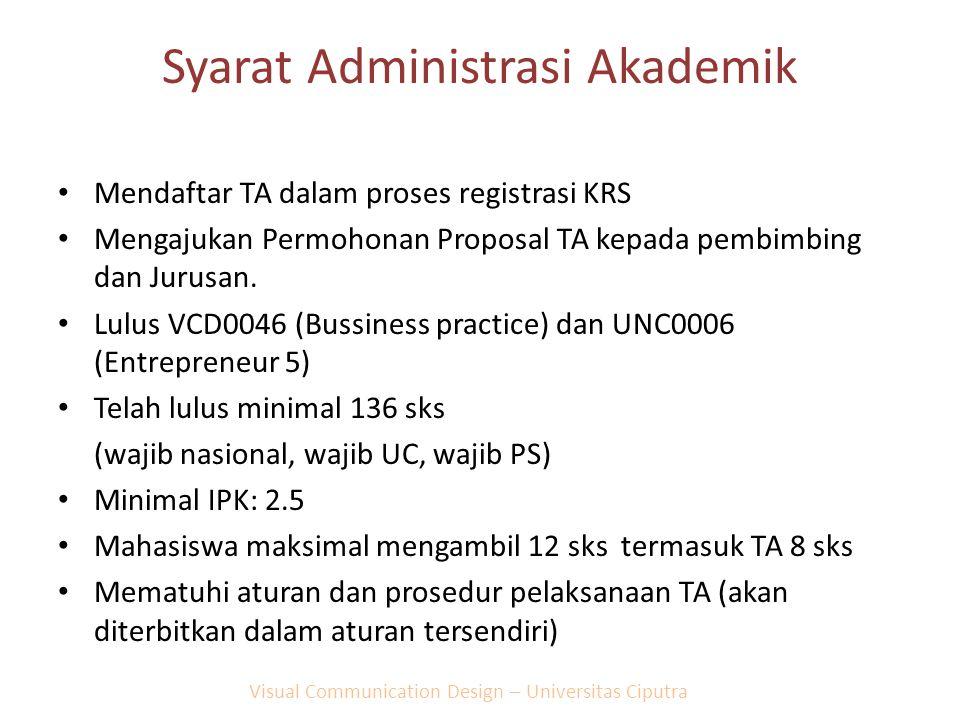 Syarat Administrasi Akademik