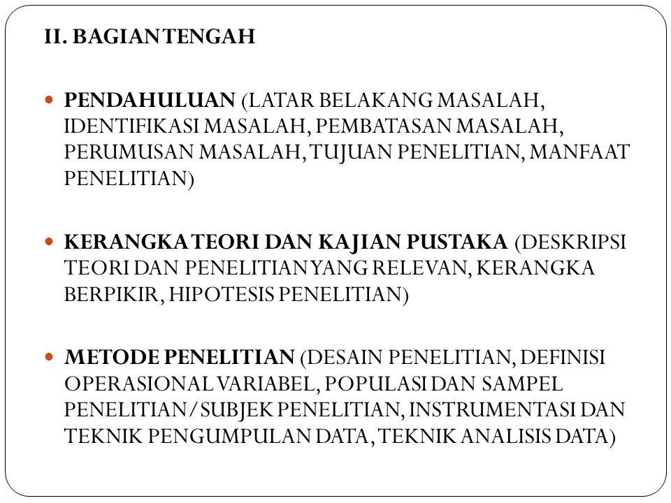II. BAGIAN TENGAH