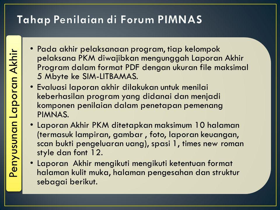 Tahap Penilaian di Forum PIMNAS
