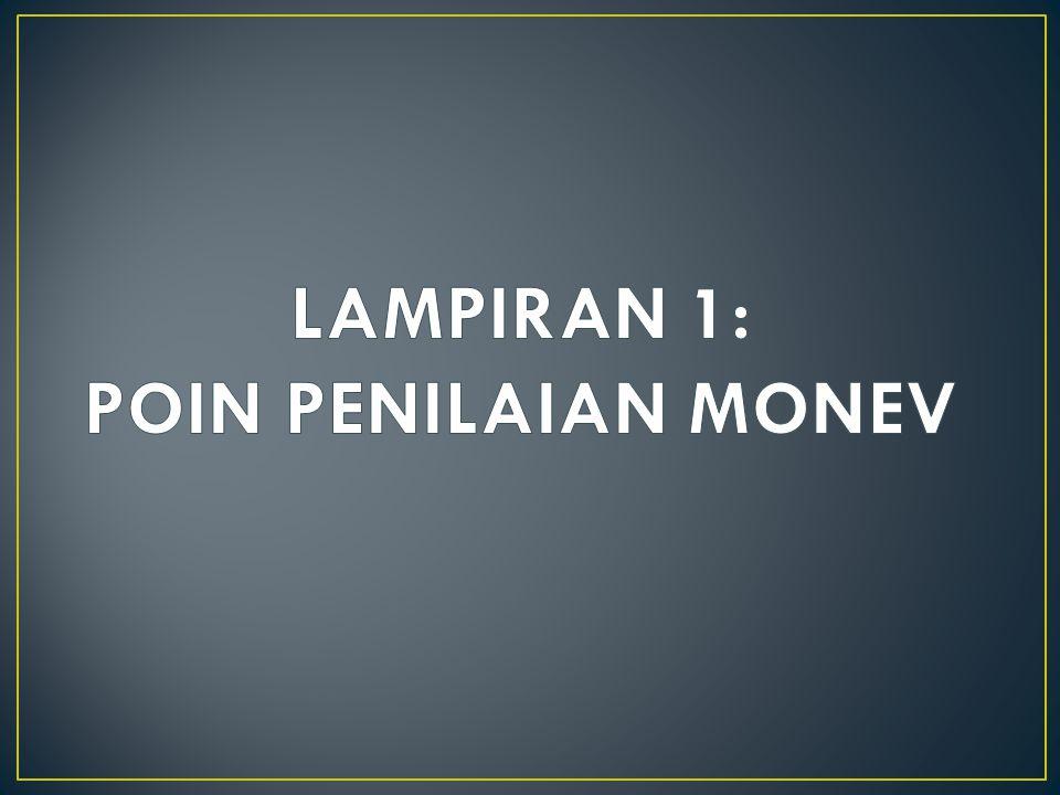 LAMPIRAN 1: POIN PENILAIAN MONEV