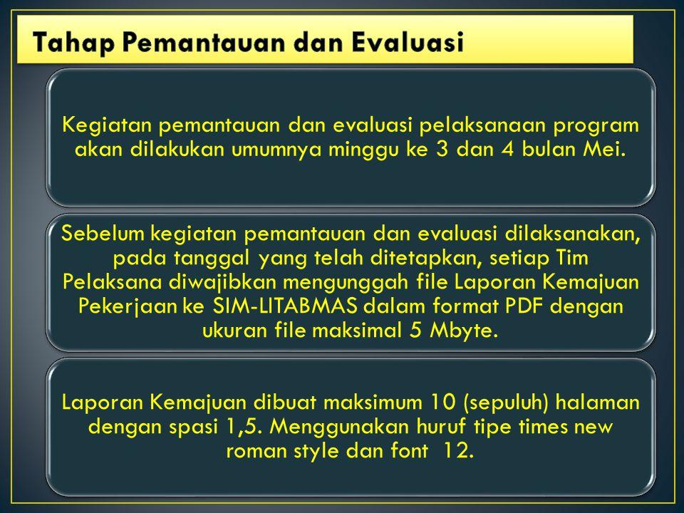 Tahap Pemantauan dan Evaluasi
