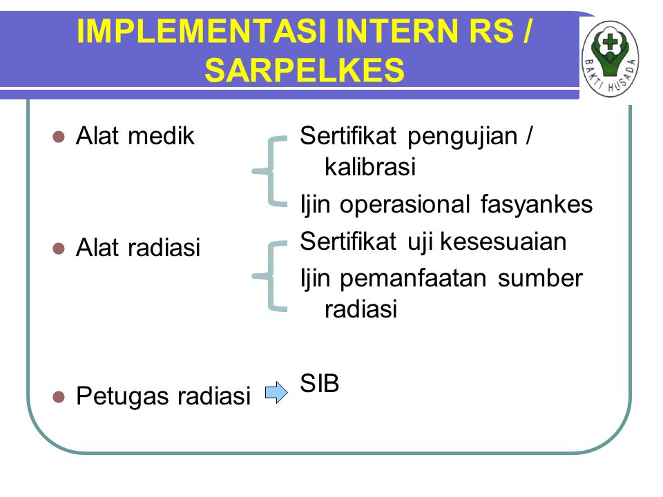 IMPLEMENTASI INTERN RS / SARPELKES