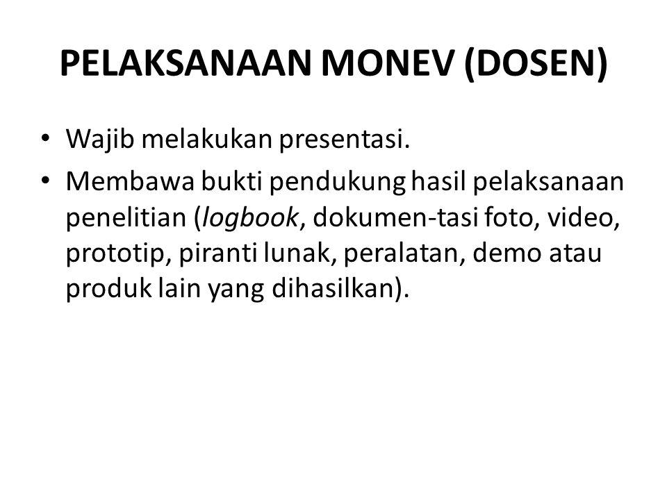 PELAKSANAAN MONEV (DOSEN)