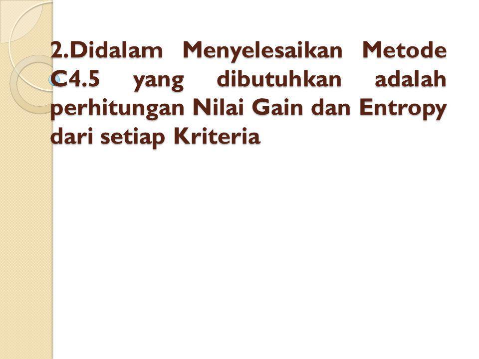 2. Didalam Menyelesaikan Metode C4