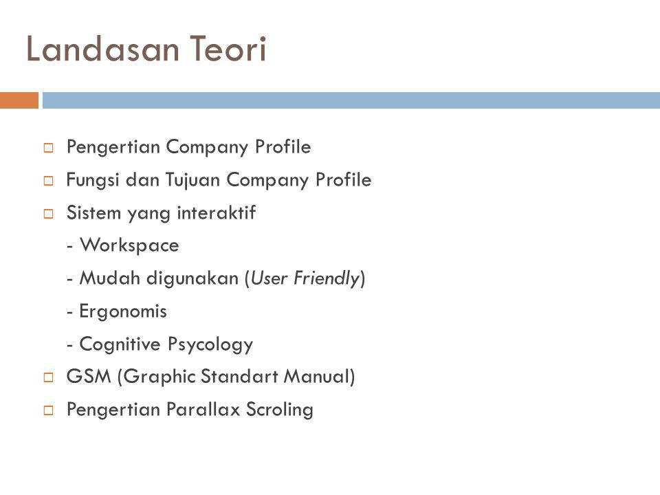 Landasan Teori Pengertian Company Profile
