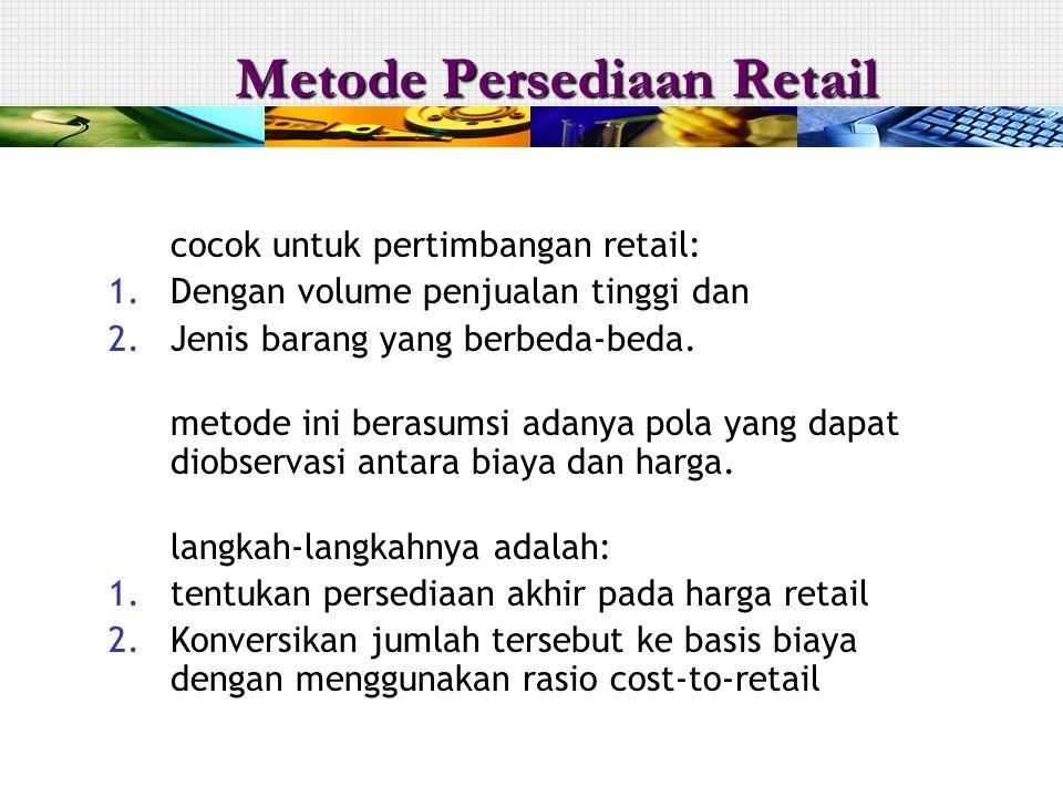 Metode Persediaan Retail