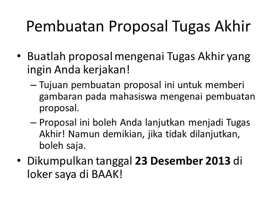 Pembuatan Proposal Tugas Akhir