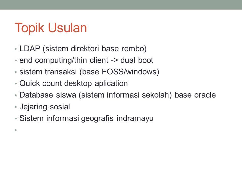 Topik Usulan LDAP (sistem direktori base rembo)