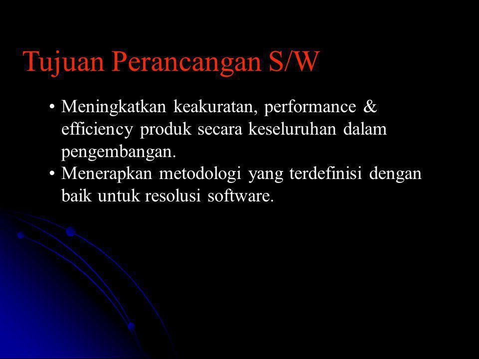 Tujuan Perancangan S/W