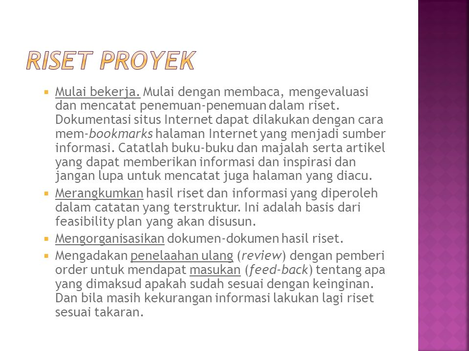 Riset proyek
