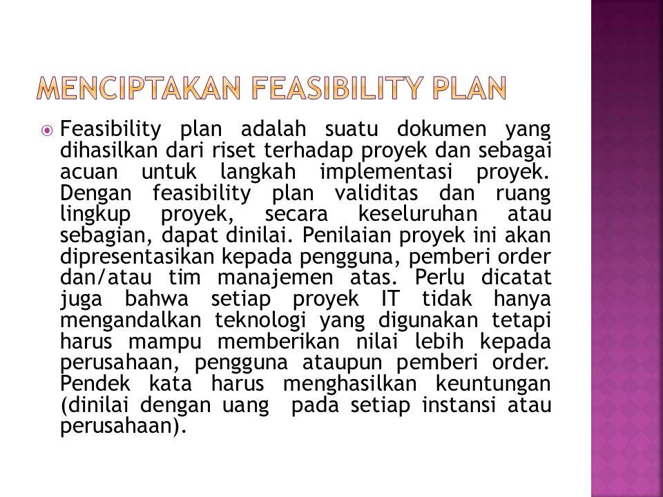 Menciptakan feasibility plan