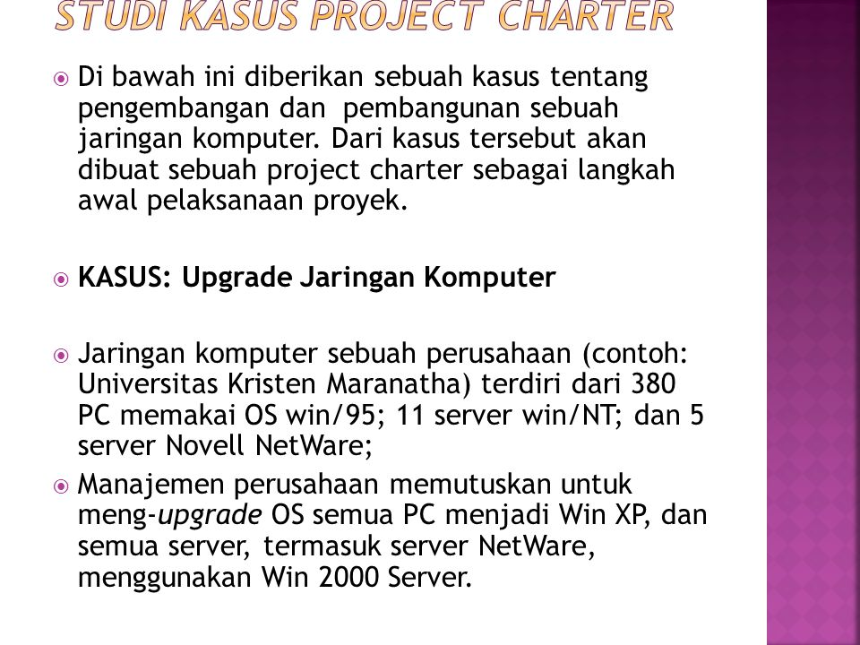 Studi Kasus Project Charter