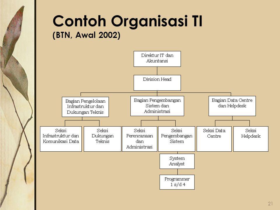Contoh Organisasi TI (BTN, Awal 2002)