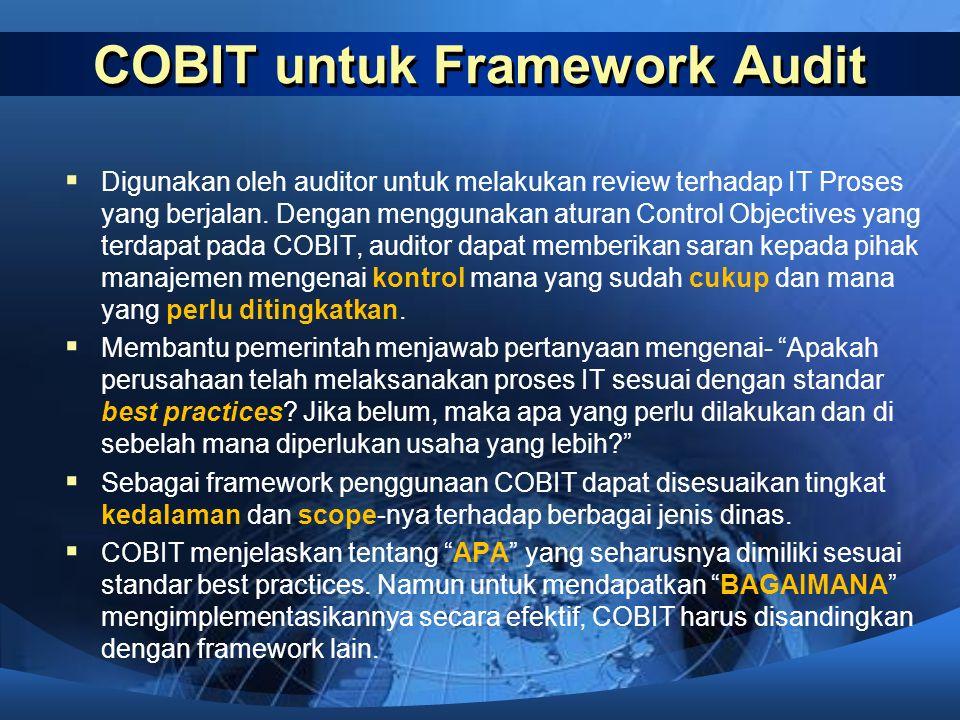 COBIT untuk Framework Audit