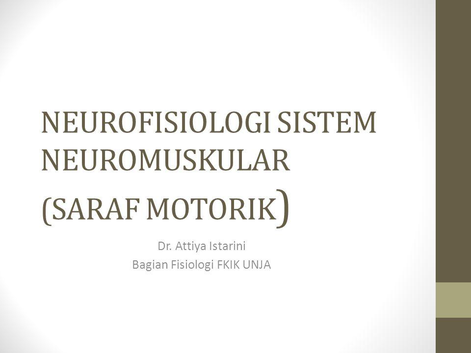 NEUROFISIOLOGI SISTEM NEUROMUSKULAR (SARAF MOTORIK)