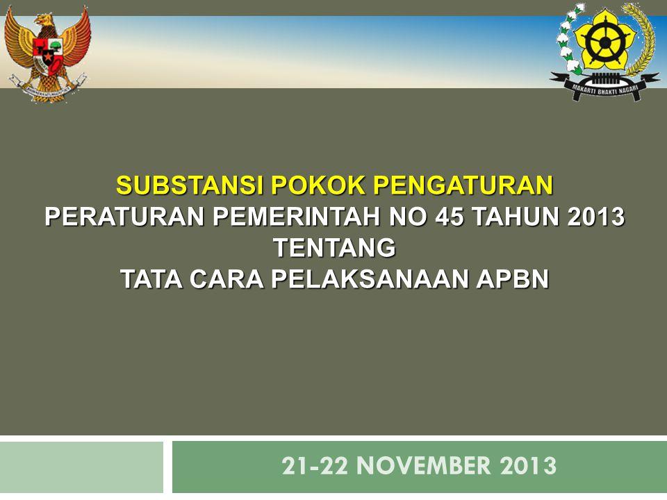 21-22 NOVEMBER 2013 SUBSTANSI POKOK PENGATURAN