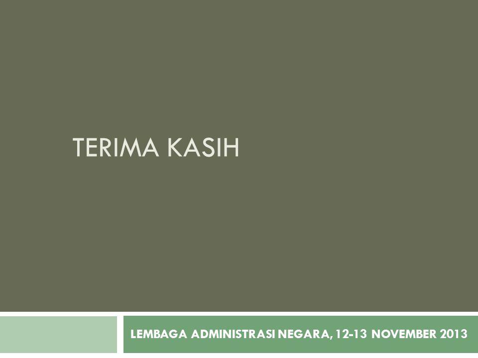 LEMBAGA ADMINISTRASI NEGARA, 12-13 NOVEMBER 2013