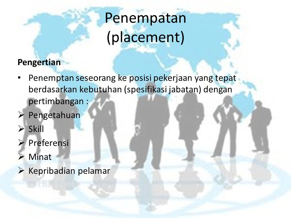 Penempatan (placement)