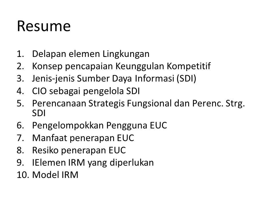 Resume Delapan elemen Lingkungan