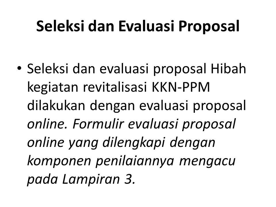 Seleksi dan Evaluasi Proposal