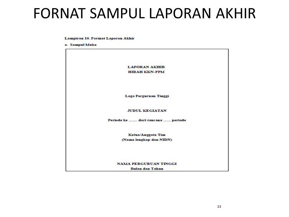 FORNAT SAMPUL LAPORAN AKHIR