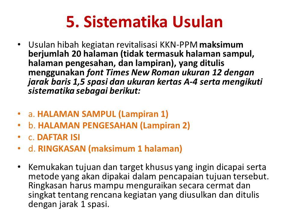 5. Sistematika Usulan