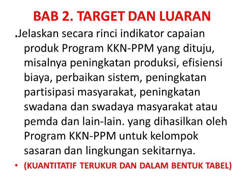 BAB 2. TARGET DAN LUARAN