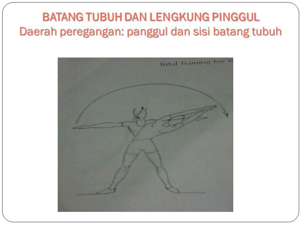 BATANG TUBUH DAN LENGKUNG PINGGUL Daerah peregangan: panggul dan sisi batang tubuh