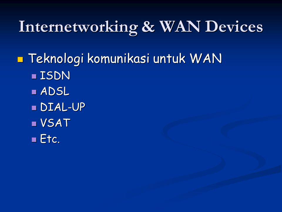 Internetworking & WAN Devices