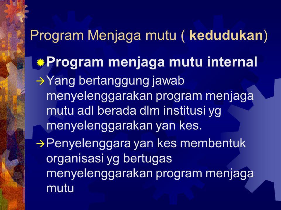 Program Menjaga mutu ( kedudukan)