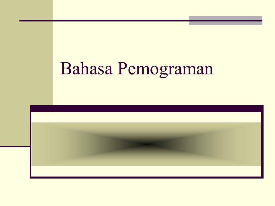 Bahasa Pemograman