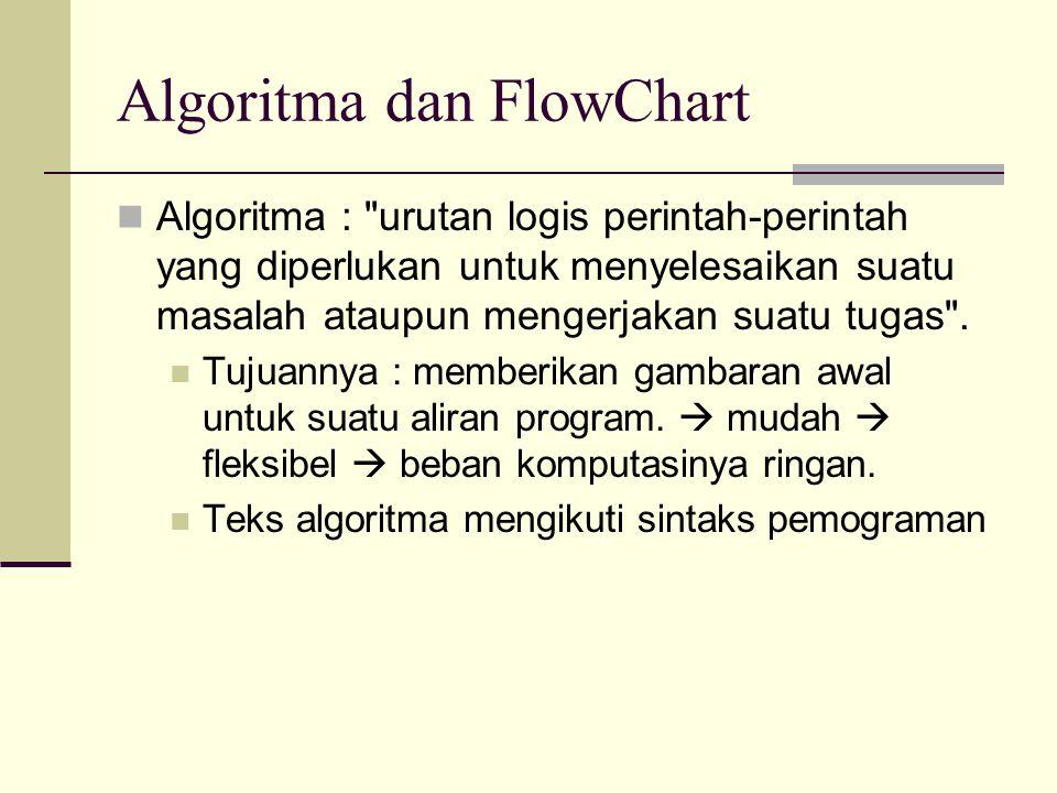 Algoritma dan FlowChart