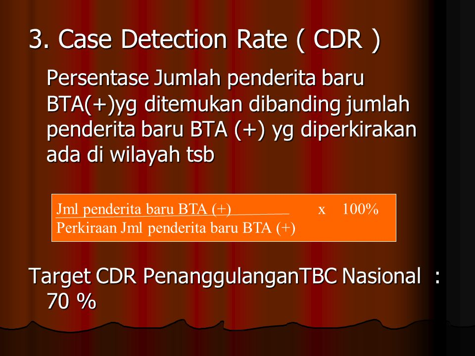 3. Case Detection Rate ( CDR )