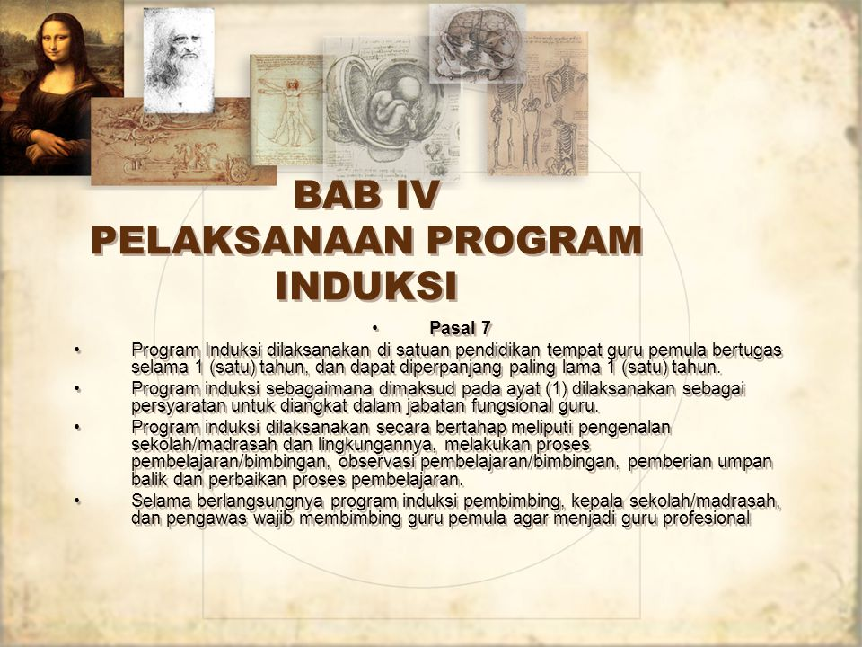 BAB IV PELAKSANAAN PROGRAM INDUKSI