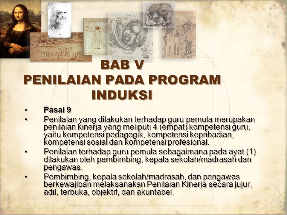 BAB V PENILAIAN PADA PROGRAM INDUKSI