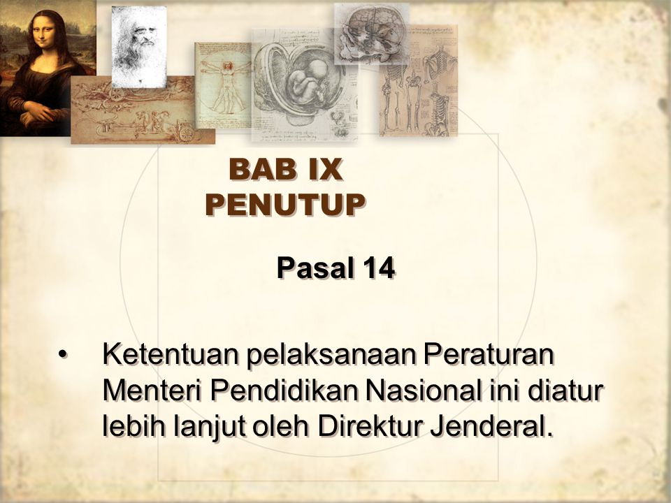BAB IX PENUTUP Pasal 14.