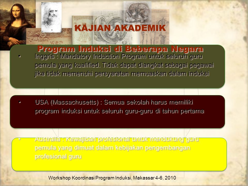 Kajian Akademik Program Induksi di Beberapa Negara