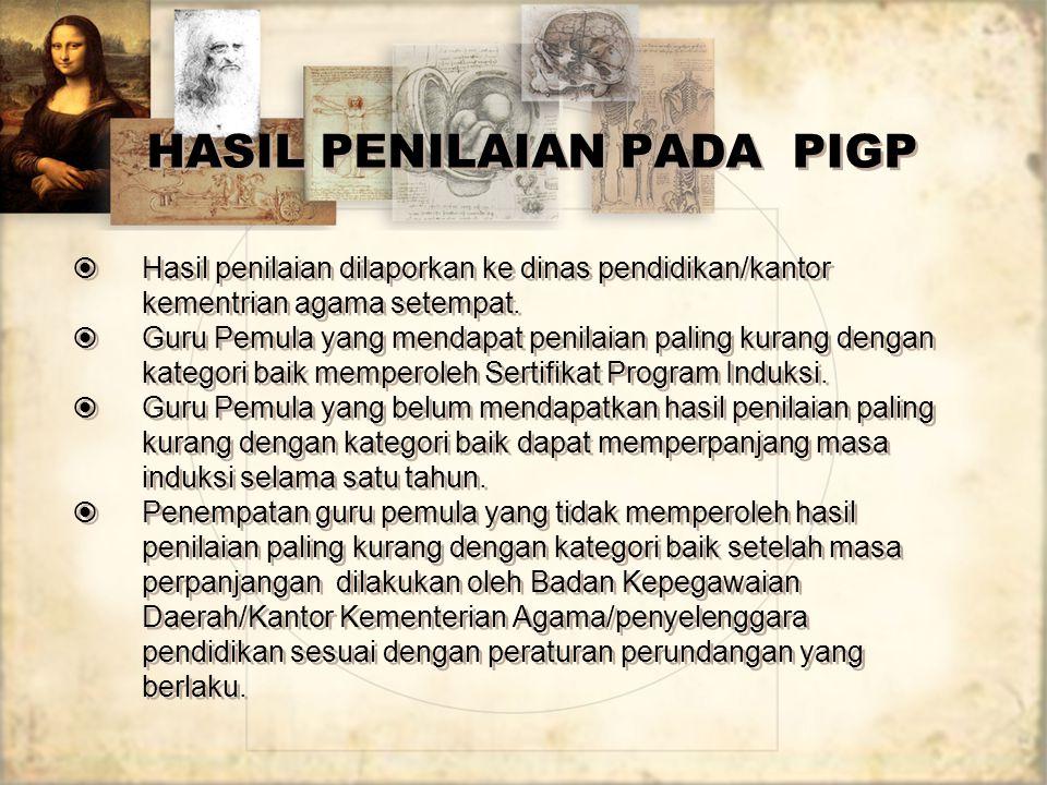 HASIL PENILAIAN PADA PIGP
