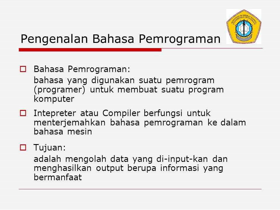 Pengenalan Bahasa Pemrograman