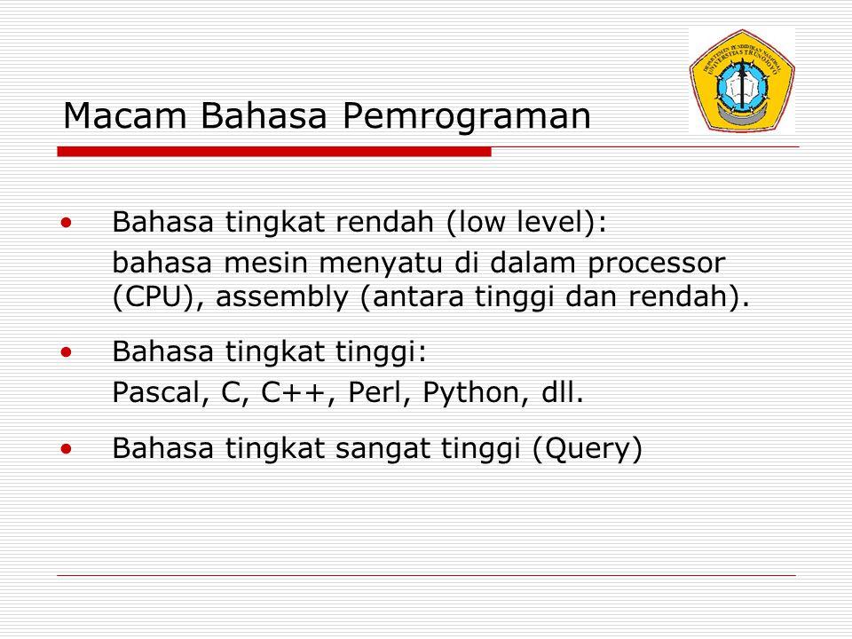Macam Bahasa Pemrograman